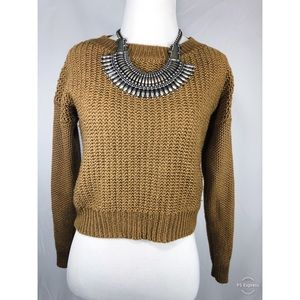 Olive Yellow Knitted Sweater